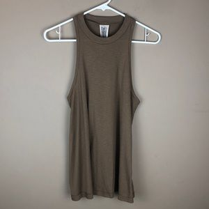 free people olive racer back tank top